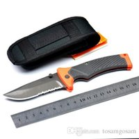 multi-tools and knives - New mm Large GB Bear Bell SURVIVAL SERIES scout CR17MOV HRC blade Folding EDC rescue Folder knife knives in Sheath and box