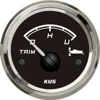 Wholesale 52mm black faceplate Trim gauge faria trim gauge ohm stainless steel for the inboat yacht