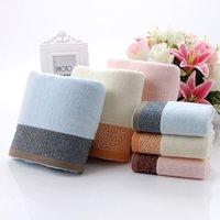 Wholesale 2015 New pc set Jacquard cotton towel set pc bath towel and face towel70 cm cm