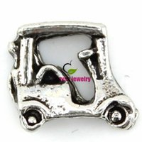 Slides, Sliders best golf cart - New fashion Hot Golfing Golf Caddy Cart Sports Floating Charm For Living Memory Glass Locket best gifts for my dear