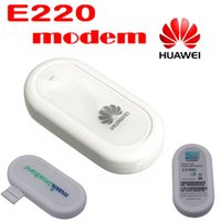 Wholesale by dhl or ems pieces HUAWEI E220 G HSDPA USB MODEM Mbps wireless network card support google android tablet PC