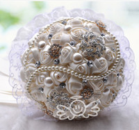 ribbon rose - New Arrival Wedding Bouquet Rose Shape Ribbon Artificial Lace Decoration Bridal Flowers