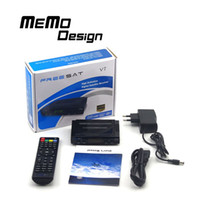 Wholesale 5pcs Freesat V7 High Digital Satellite TV receiver Support PowerVu Biss Key CCcam Newcam Youtube G USB WiFi DVB S2 Set top Box