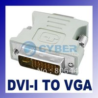 Wholesale DVI I M Pin to VGA F Video Converter Adapter New