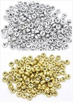 Wholesale Free Ship Mixed Alphabet Letter Acrylic Flat Round Spacer Beads mm NEW