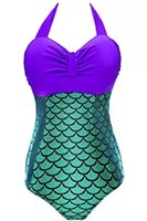 Wholesale 2016 Women Plus size Swimsuit Beachwear Vintage Bathing Suit High Waist Plus Size Women Mermaid Swimwear Bodysuit One Piece Fashion A021