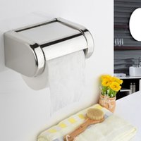 Wholesale Kitchen Paper Holder Wall Mounted Stainless Steel Roll Tissue Box Durable Bathroom Accessories Modern Square Polished Chrome