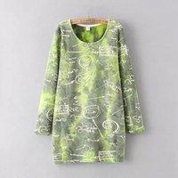 tie dye hoodies - Women s Autumn Winter Fleeces Outerwear Pullover Hoodies Tie dyed Random Letters Printed Plus Velvet Thicken Casual Brief Sweatshirt