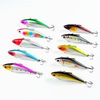 artificial surfaces - 10 Fishing Lures cm g VIB Vibration Wobblers Fishing Lure Hard Bait Isca Artificial Bait d Eye Laser Surface Lure