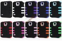anti shock protection - 2 in Robot armor Protection Cover Anti Shock case TPU Silicone Combo Case For Samsung S5 I9600 S4 i9500 Iphone S