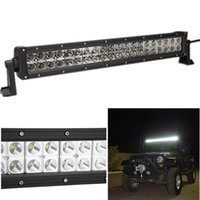 bar atv - 22inch W Waterproof CREE Led Light Bar Flood Spot Combo Beam LED Work Light Bar Driving Light For Offroad Boat Trucks ATV