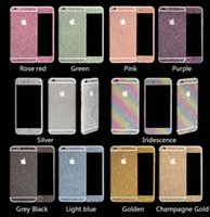 Wholesale Luxurious Full Body Bling Stickers Shiny Glitter Rainbow Front Back Side Sticker For iPhone s plus for Galaxy S5 S6 edge Note