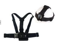 Wholesale New GoPro Accessories Head Stap Chest Band Mount Outdoor Camera Elastic Headband For SJ4000 Go Pro Hero