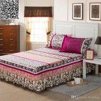 Wholesale for m bed Cotton bedskirt printed bed skirt Queen size Mattress case