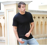 bamboo t shirts wholesale - Bamboo Solid Round Neck T shirt Men s New T shirt Round Neck Short Sleeve T shirt