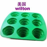 Wholesale Whirlpool American wilton through silica gel jelly pudding cake mold tart mold baking tools dessert