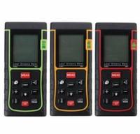 Wholesale Protable Digital LCD Hand held Laser Distance M Diameter Meter Measure Finder Length area volume Pythagorean theorem measurement