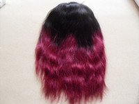 Wholesale grade A Brazilian Human Hair Wigs sufaya Lace Front Wigs natural wave human ombre color Hair Wigs T1B J
