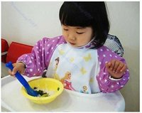 Wholesale BB2211 Hot Cute Children Cpw baby Todder Waterproof Long Sleeve Art Smock Bib Apron