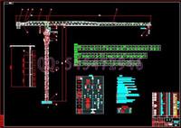 Wholesale PT6015 flat head self climbing tower crane drawings Full Machining drawings ATUO CAD
