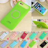 TPU i-glow cases - For iPhone Plus Case i Glow iglow Hybrid Luminous Noctilucent Ring Stand holder Plastic Case Cover