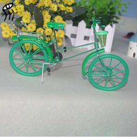 aluminium handicrafts - A birthday present Xmas gift tourism souvenir Toys Gifts Metal aluminium wire models manually bicycle creative home tourism handicraft