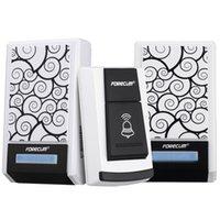 Wholesale Waterproof Wireless Smart Doorbell with Two Receivers DC Door Bell Chimes m Range for Home Office