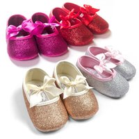 Wholesale Gold Silver Princess baby shoes baby shoes soft anti slip shoes at the end of the spring and autumn
