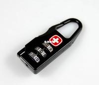 Wholesale Alloy Swiss Cross Symbol Combination Code Number Lock Padlock For Luggage Zipper Bag Backpack Handbag Suitcase Drawer