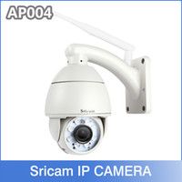ptz wifi wireless ip camera - Sricam AP004 P x Optical Zoom Pan Tilt H ptz wifi ip network camera Outdoor CCTV Dome Camera