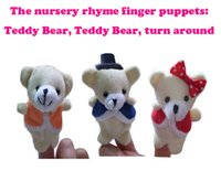 bearings group - Newest Baby Plush Finger puppets Toy Teddy bear teddy bear turn around pieces group