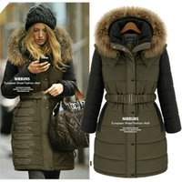 Cheap NEW winter women coat 2015 Fashion cotton jacket warm long coa European style big size Parkas women clothing