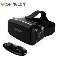 Wholesale VR SHINECON Virtual Reality D Glasses Helmet VR BOX Headset For Smartphone inch inch with Retail Package