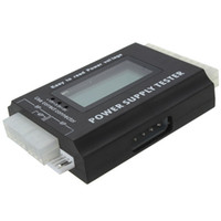 Wholesale Digital Meter LCD PC Computer Power Supply Tester Pin PSU ATX BTX ITX SATA HDD Testing Equipment order lt no track
