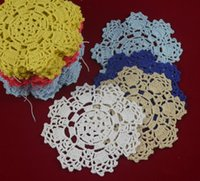 Wholesale Handmade Crochet Doily patterns vase mat table mats Coasters Ceramic mat pad Physical picture