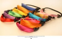Wholesale Streaked Hair Rubber Bands Simulation Of Elastic Hair Band Wig hair Rubber Bands Wig Hair Jewelry
