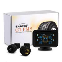 TPMS Dvd Tyre Pressure Monitoring System Inteligente + 4 sensores externos TPMS LCD lechón de DVD del coche de alarma de presión de neumáticos