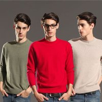 Wholesale Pure Mink Cashmere Sweater For Men Autumn Winter Knitting Outwear Casual Cashmere Tops Mink Cashmere Sweater Pullover L016