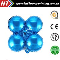 aluminum arch - 50pcs alumnum balloons Festival party supplies Sell like hot cakes Round four golden balls aluminum balloons round balloon arches