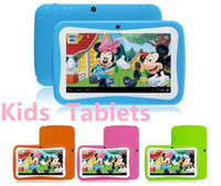 Wholesale 7 inch Quad Core Children Kids Tablet PC MB GB Android Children Educational Apps Christmas best gift DHL FREE