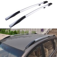 baggage carriers - Universal Car Styling Roof Racks Side Rails Bars Luggage Carrier Baggage Holder Aluminum Alloy Auot Accessories High Quality