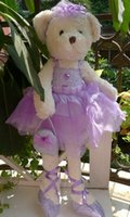 ballet handbag - IN HAND NEW ARRIVAL Beautful Bear Pink and Purple Style Ballet dress handbag edition Stuffed Plush doll CM quot BIG TOY GIFT