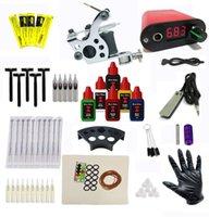 cheap tattoo kits - BJT cheap tattoo kit beginners tattoo machinekit Tattoo gun kit complete tattoo kit tattoo power supply needle inks