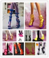 Wholesale Pairs High Quality Boots Sandals Shoes For Monster Dolls Multi Mixed Styles Monster Doll High Heel Shoes
