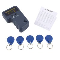 Wholesale Handheld Khz RFID Card Reader Copier Writer Duplicator Programmer ID Card Copy EM4305 each Writable tags