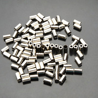 bicycle brake cable housing - 100pcs Cycle Metal Brake Cable Housing Ferrule End Crimp Bicycle Part Silver Metal Bike brake cable caps