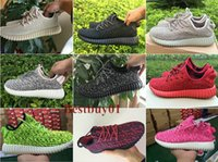 womans shoes - 10Color Hot Sale Original YZY Kanye West Yeezy Boost Low Pirate Black Moonrock Turtle Dove Grey Oxford Tan Womans Ruuuning Shoes