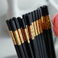 authentic chopsticks - Authentic alloy chopsticks South Korea creative Premium hotel Japanese chopsticks High quality household chopsticks