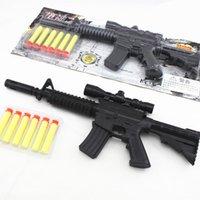 assault rifle guns - M4A1 assault rifle plastic nerf guns toy EVA Foam bullets Imitation for kids Safe sniper rifle toy Submachine gun