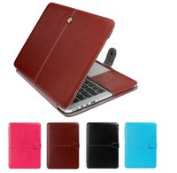 Wholesale PU Leather Pouch Sleeve Case Business Notebook Laptop Computer Bags For Macbook Air inch Pro Mac Pro Retina Netbook
